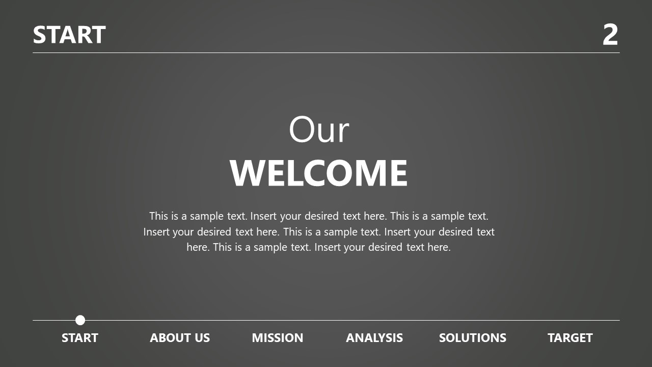 Welcome Business PowerPoint Grayscale