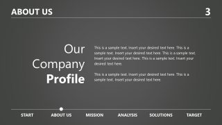 Company profile PowerPoint Grayscale