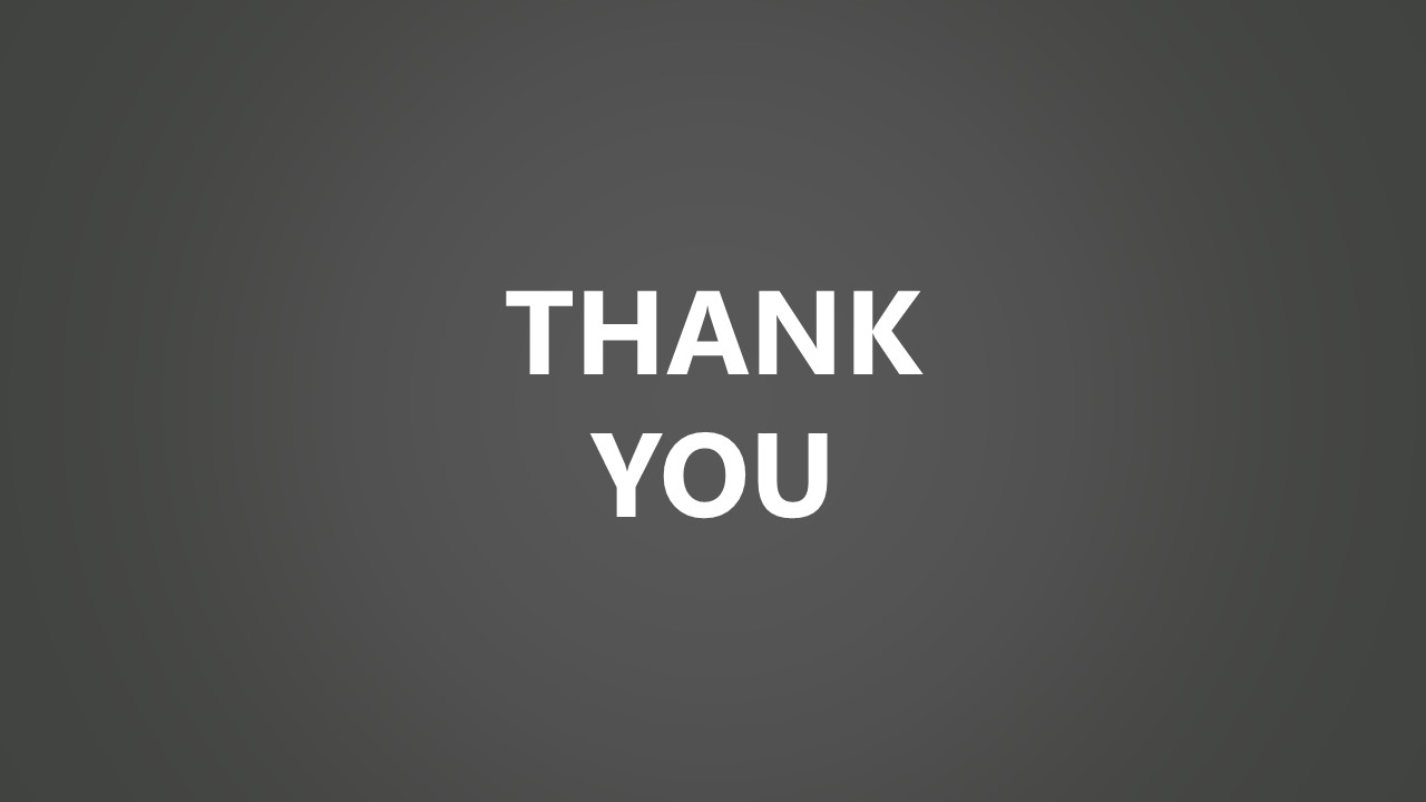 Design of Grayscale Thank you Slide