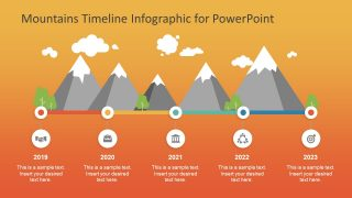 Mountains Timeline PowerPoint Template