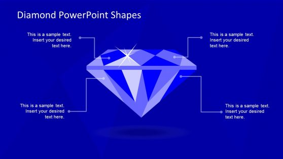 4 Segment Diamond Diagram PPT
