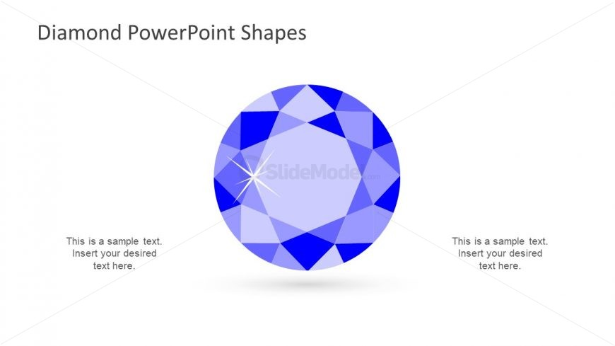 Template of Polygons Diamond Shape