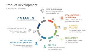 Product Development Circular Diagram PowerPoint Template