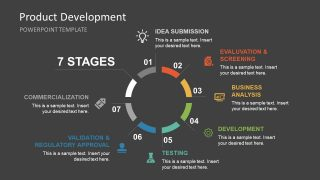 Product Lifecycle Development Diagram PPT