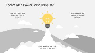 Simple Rocket Idea PowerPoint Template