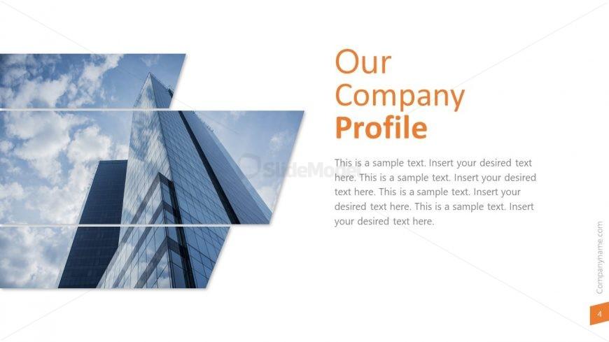 Skyscraper Layout for Company profile