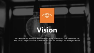 Infographic Vision of Company PPT