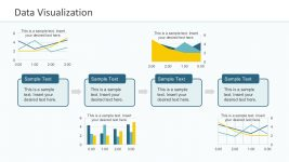 4-Step Data Process Presentation Slide Graphs