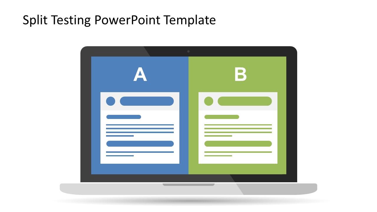 split testing powerpoint template slidemodel. Black Bedroom Furniture Sets. Home Design Ideas