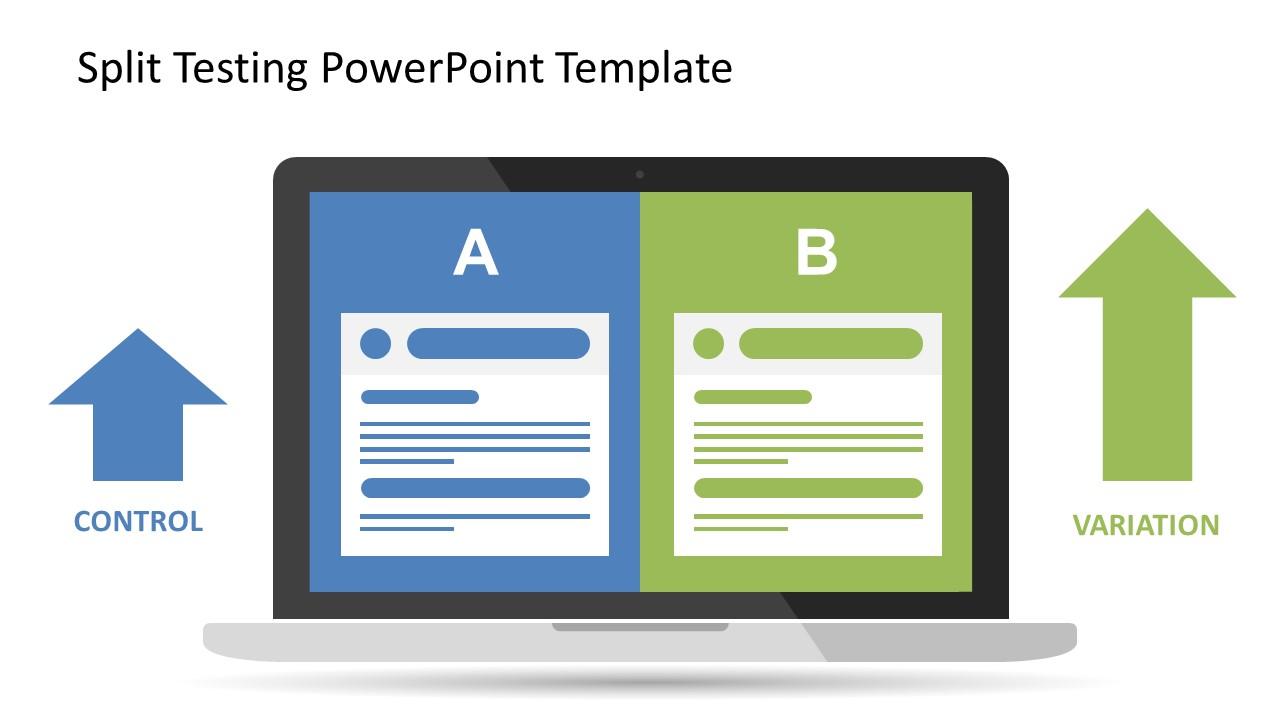 Flat PowerPoint Comparison Slide