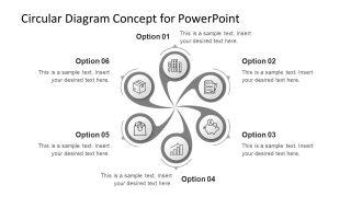 6 Segments Infographic Spiral