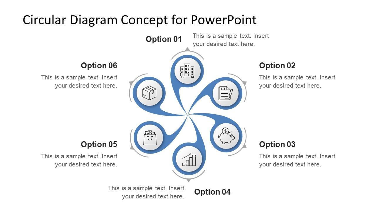 animated swirl diagram for powerpoint slidemodel