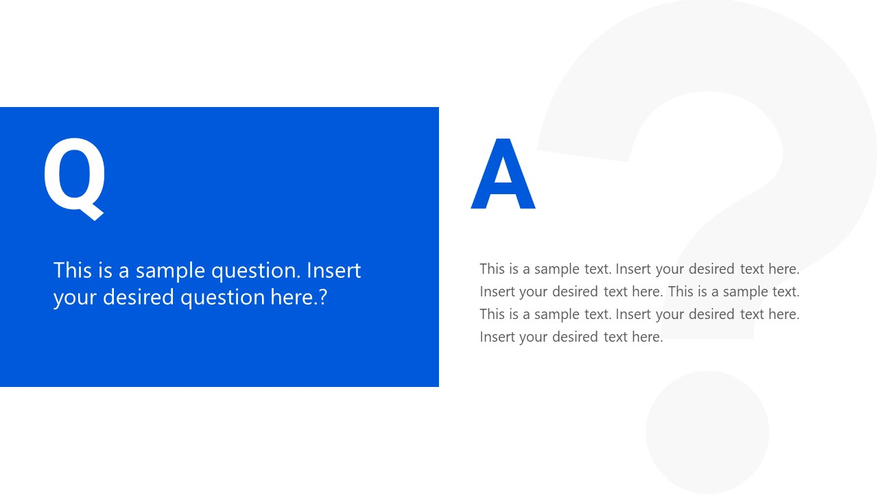 PowerPoint Slide of Questions and Answers