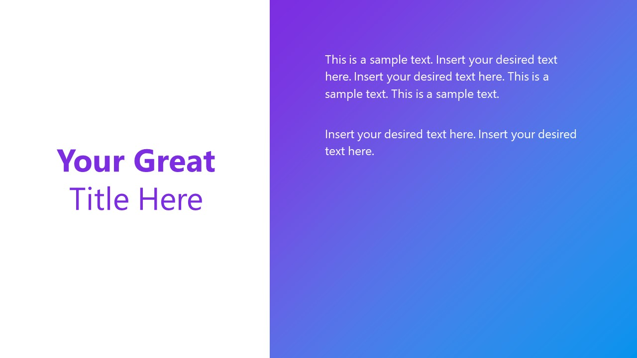 PowerPoint Template Gradient Design