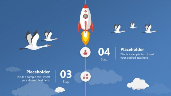 PowerPoint Timeline Template of Rocket