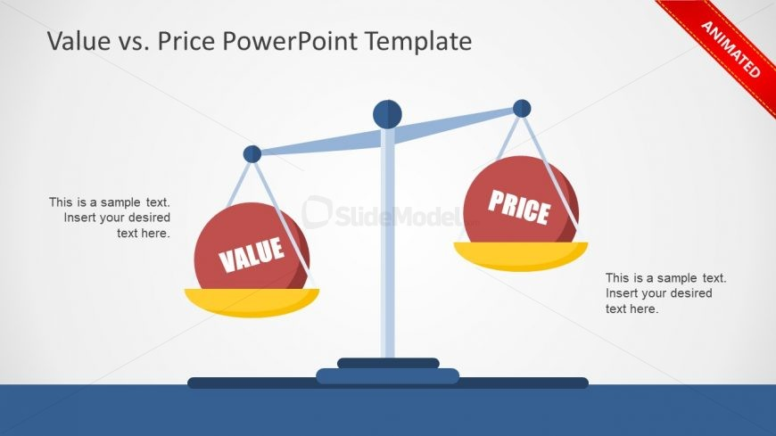Flat PowerPoint Layout Value Price