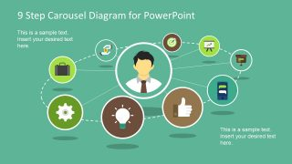 9 Step Carousel Diagram for PowerPoint