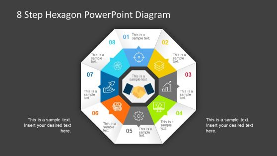 Process Cycle PowerPoint Hexagon
