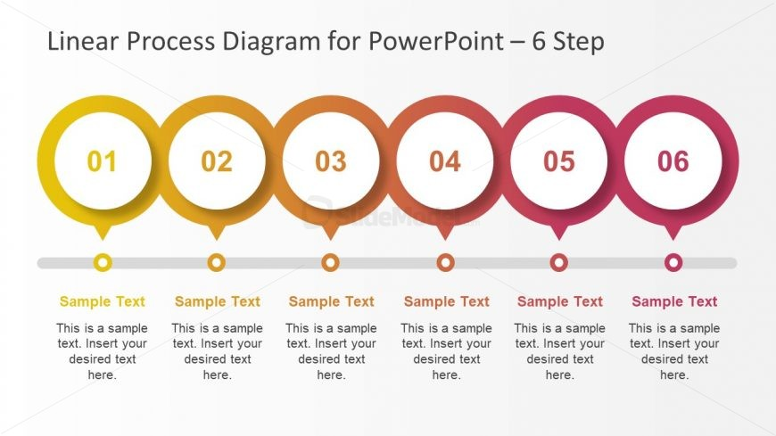 6 Steps PowerPoint Diagram Design