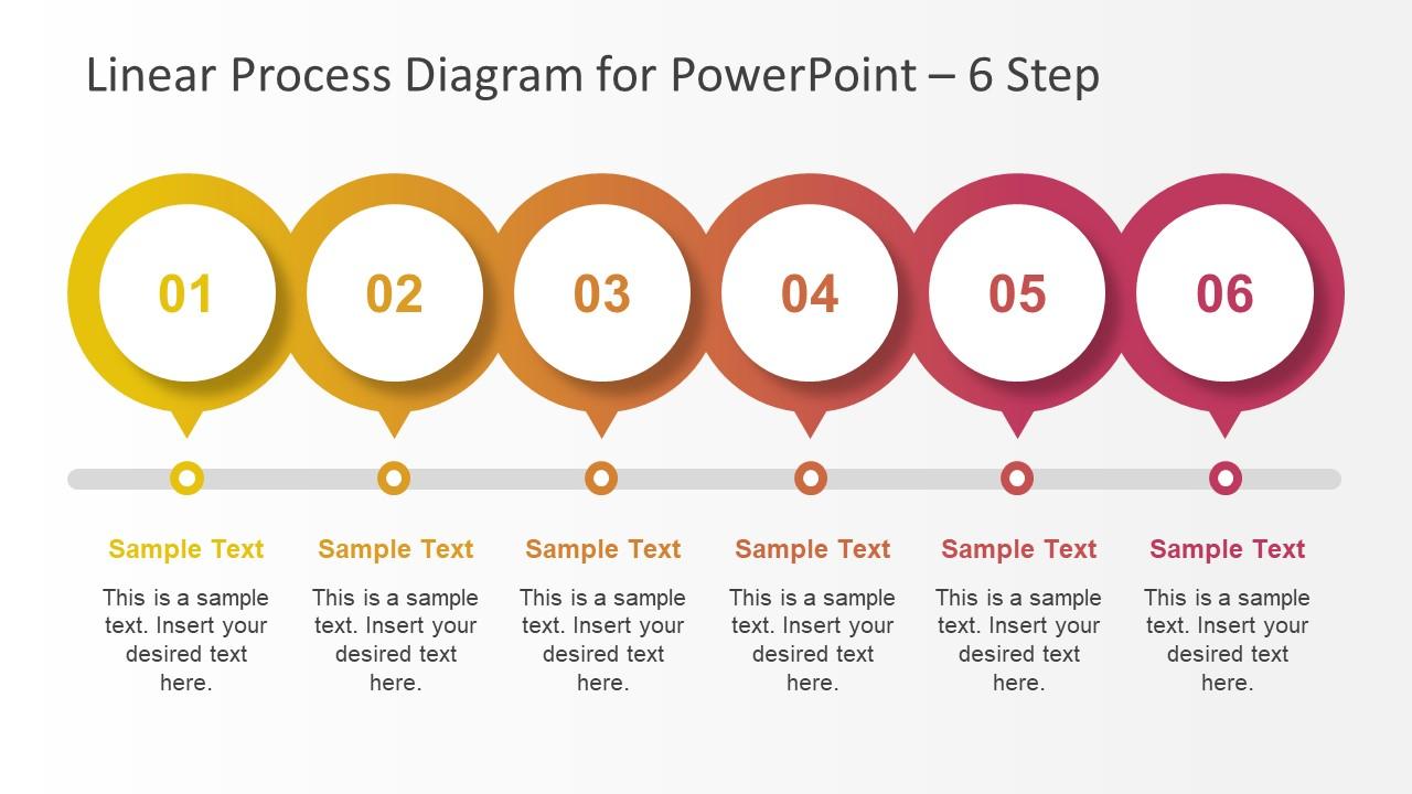 6 Steps PowerPoint Diagram Design