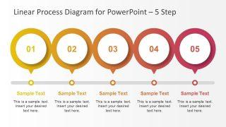 PowerPoint Slide of 5 Step Line