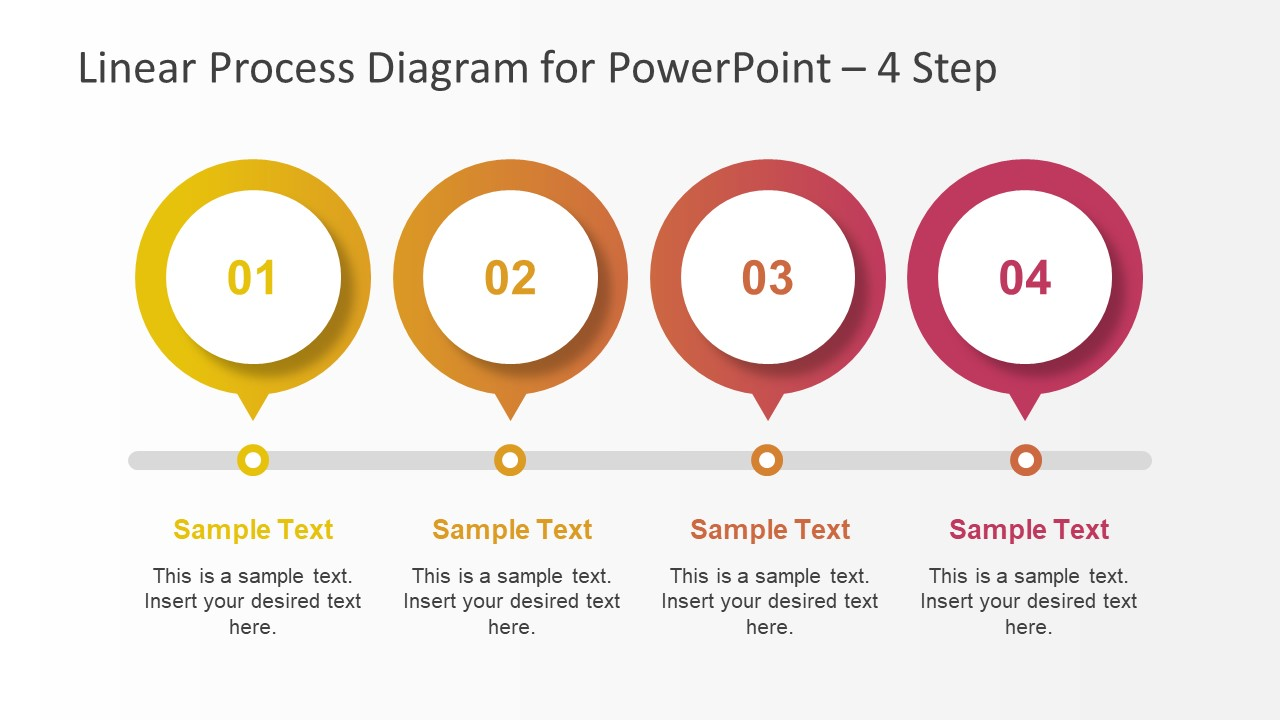 Slide of 4 Step Diagram Design
