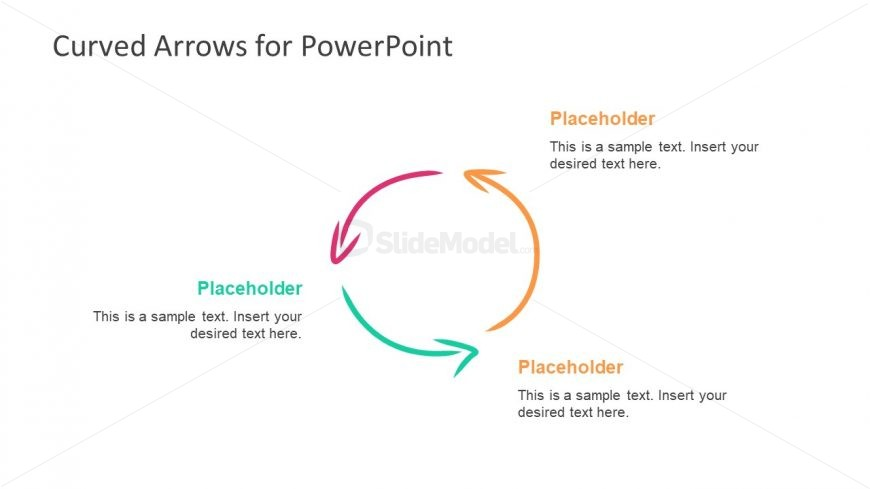 Slide of 3 Arrow PowerPoint Cycle