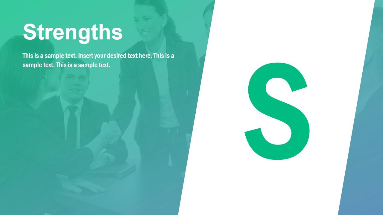 Strengths Infographic Slide for SWOT