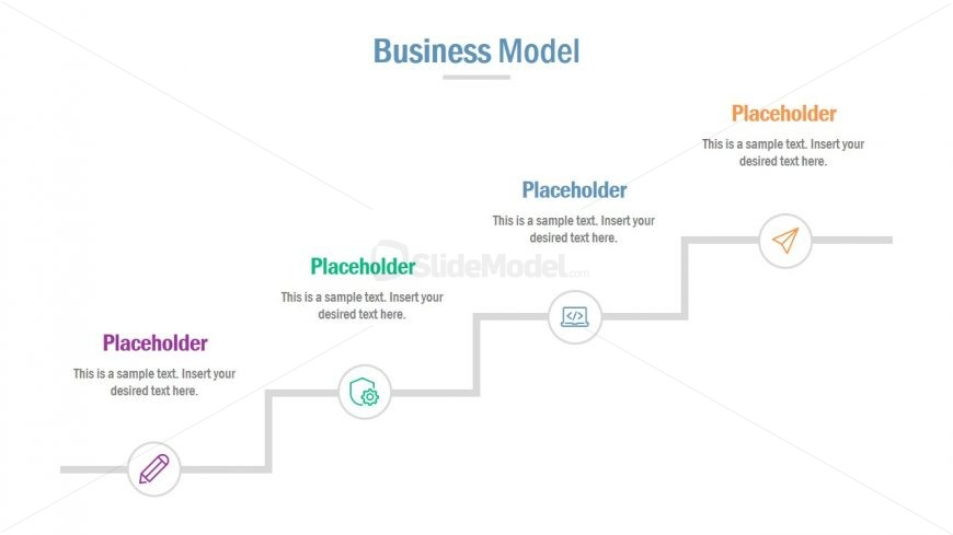 Infographic Business Model Slide