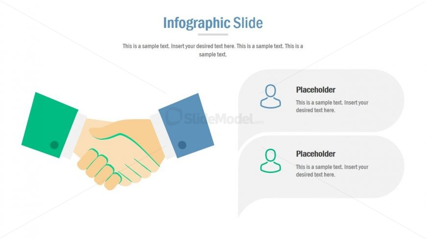 Template of Hand Shake Business