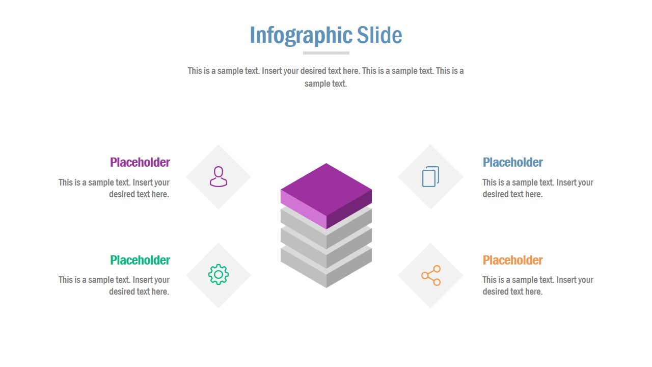 Stacked Diagram Template of PowerPoint