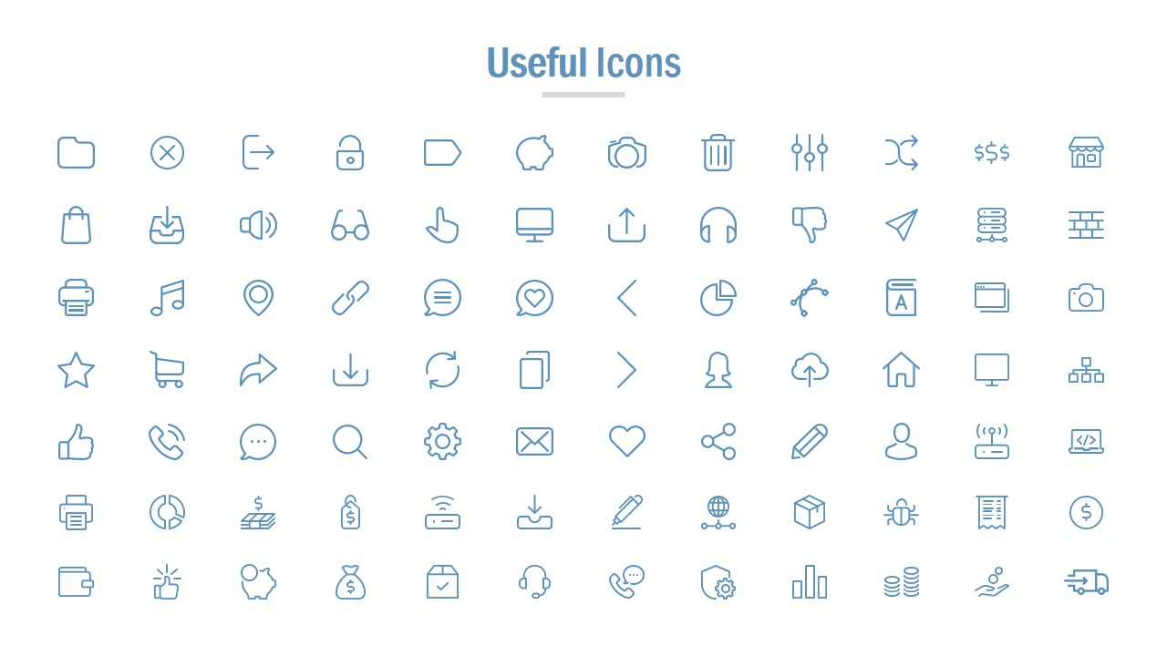 Slide of Useful Icons for Presentations