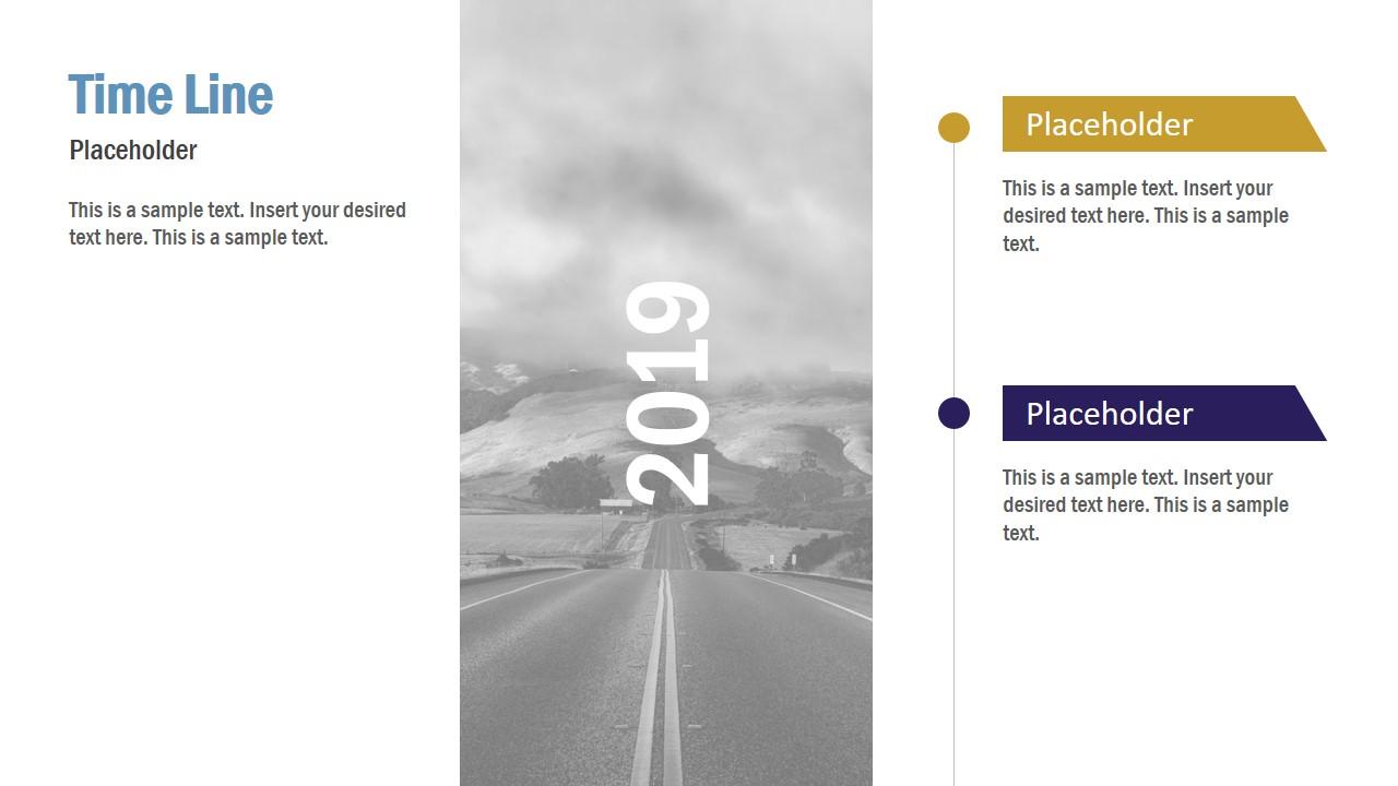 Slide Design for Timeline Transition