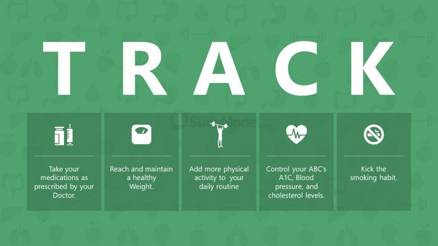 6 Item Infographic Slide Diabetes Control