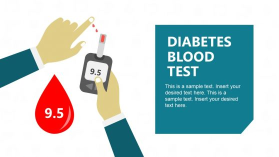 Blood Test Slide Diabetes PowerPoint