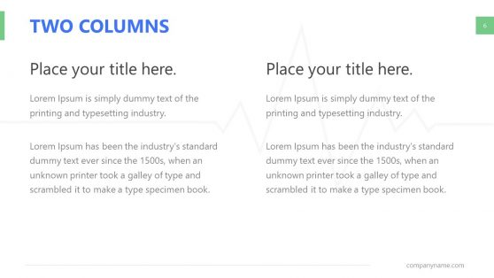 Two Columns Comparison Template