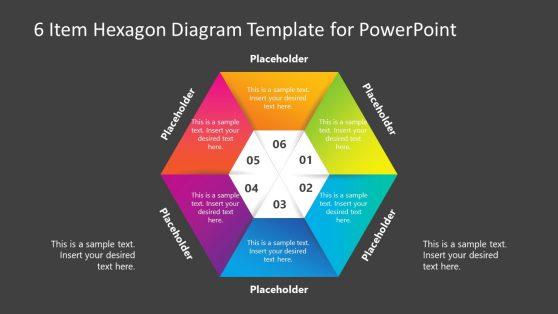 Infographic Hexagon Diagram 6 Steps