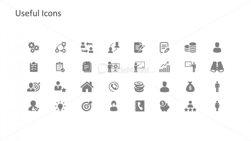 Infographic Icons for Business Concepts