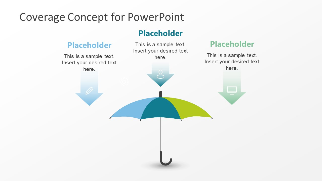 Infographic 3 Step Umbrella Concept