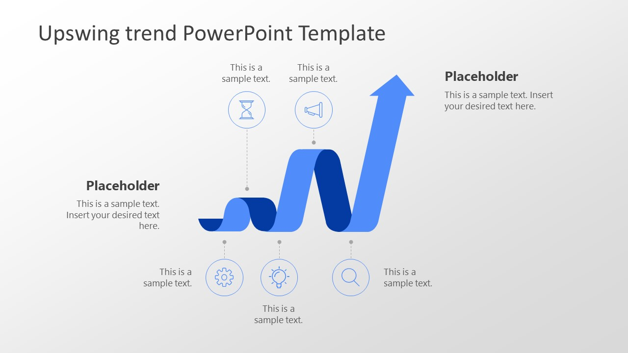 upswing trend powerpoint template