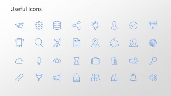 Slide of Useful Icons for Trend Analysis