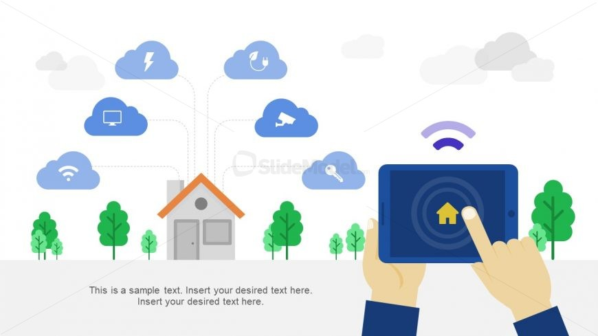 Slide of Infographics Smart Home Grid