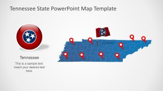 Tennessee State PowerPoint Map Template