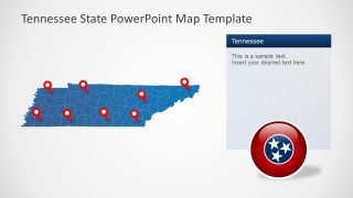 Editable Map with 95 Counties Tennessee