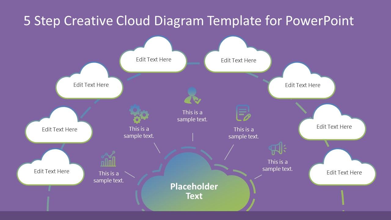 Cloud Computing PowerPoint Diagram