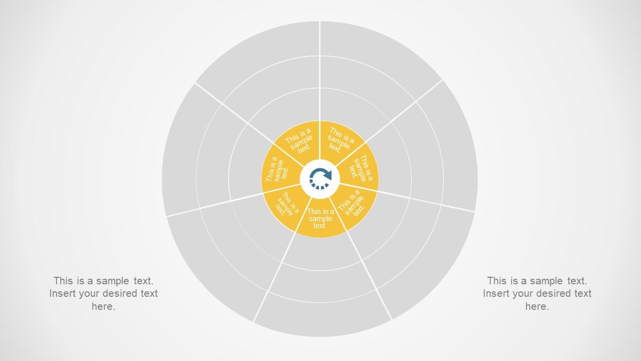 Presentation Layout with Circular Diagram
