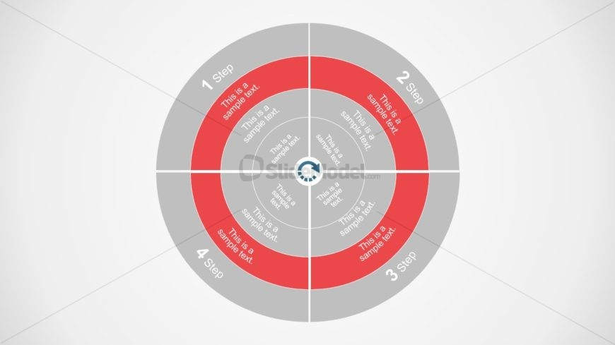 Concentric Circles PowerPoint Diagram