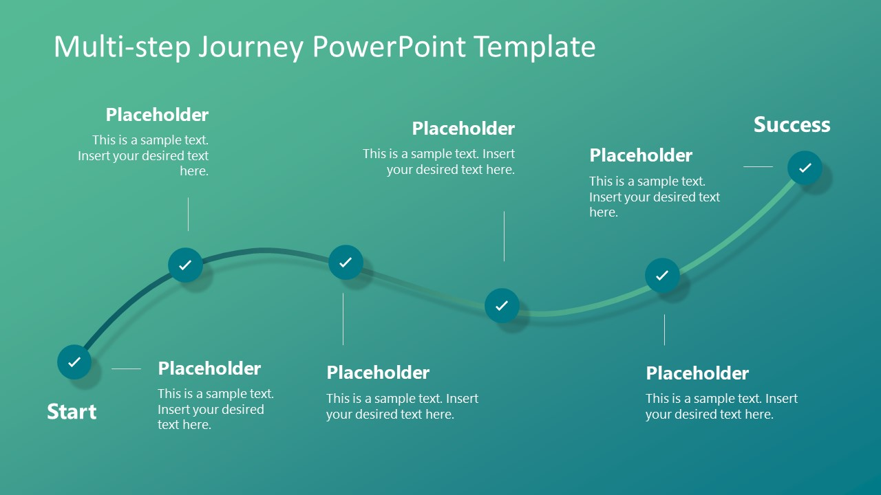 multi step journey powerpoint template