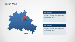 PPT Berlin Map Template Location Pins