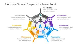 7 Arrows Circular Diagram PowerPoint Template